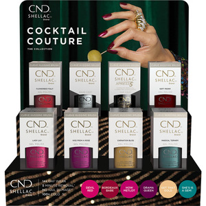 CND Shellac Cocktail Couture Holiday 2020 Collection 16 Piece Pop Display (8737)