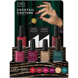 CND Vinylux Cocktail Couture Holiday 2020 Collection - 14 Piece Pop Display - 7 Day Air Dry Nail Polish (8738)