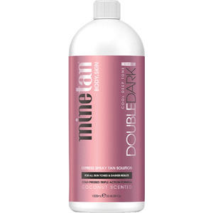 MineTan Double Dark Pro - Professional Spray Tan Solution 33.8 oz. - 1 Liter (43687)