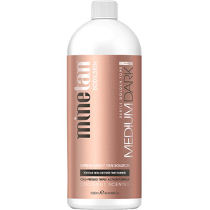 MineTan Medium Dark Pro - Professional Spray Tan Solution 33.8 oz. - 1 Liter (43686)