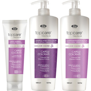 Lisap Color Care Trio - (1) Lisap Color Care After Color Acid Shampoo (33.8 oz.) + (1) Lisap Color Care pH Balancer Conditioner (33.8 oz.) + (1) Lisap Color Care Barrier Cream (5.0 oz.) (220018)