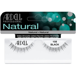Ardell Natural Strip Lashes #108 - Black 1 Pair (6658)
