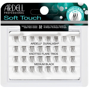 Ardell Soft Touch Knoted Flair Trios - Individuals - Medium Black 32 Trio Lashes (6744)