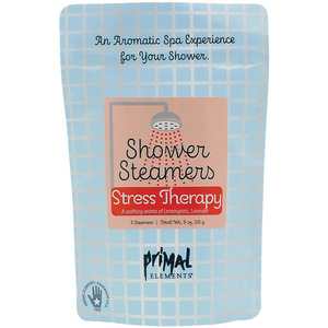 Primal Elements Shower Steamers - STRESS THERAPY (2) 3 oz. Steamer Tablets - 2-3 Uses per Tablet 6 oz. - 170 grams (M50981 - 50986)