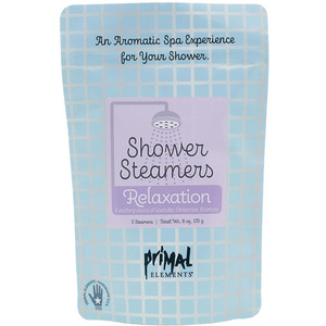 Primal Elements Shower Steamers - RELAXATION (2) 3 oz. Steamer Tablets - 2-3 Uses per Tablet 6 oz. - 170 grams (M50981 - 50983)