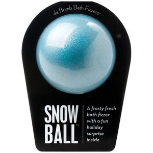 "Da Bomb Bath Bomb - SNOW BALL BOMB - A Frosty Fresh Bath Fizzer with a Fun Holiday Suprise Inside! 7 oz. - 2.75"" Diameter (M64100 - 64110)"