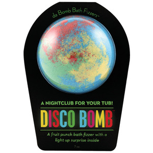 "Da Bomb Bath Bomb - DISCO BOMB - A Fruit Punch Bath Fizzer with a Light Up Suprise Inside! 7 oz. - 2.75"" Diameter (M64100 - 64100)"