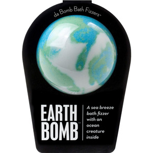 "Da Bomb Bath Bomb - EARTH BOMB - A Sea Breeze Bath Fizzer with an Ocean Creature Inside! 7 oz. - 2.75"" Diameter (M64100 - 64115)"