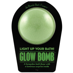 "Da Bomb Bath Bomb - GLOW BOMB - A Honeydew Bath Fizzer with a Luminous Suprise Inside! 7 oz. - 2.75"" Diameter (M64100 - 64101)"