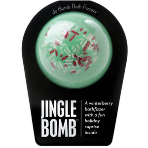 "Da Bomb Bath Bomb - JINGLE BOMB - A Winterberry Bath Fizzer with a Fun Holiday Suprise Inside! 7 oz. - 2.75"" Diameter (M64100 - 64111)"