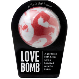 "Da Bomb Bath Bomb - LOVE BOMB - A Gardenia Bath Fizzer with a Heartfelt Suprise Inside! 7 oz. - 2.75"" Diameter (M64100 - 64103)"