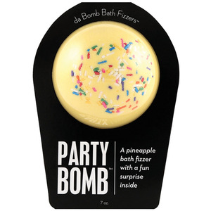 "Da Bomb Bath Bomb - PARTY BOMB - A Pineapple Bath Fizzer with a Fun Suprise Inside! 7 oz. - 2.75"" Diameter (M64100 - 64105)"