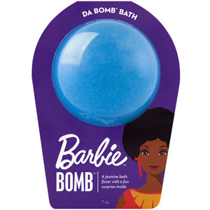 "Da Bomb Bath Bomb Barbie - BARBIE BLUE BATH BOMB - A Jasmine Bath Fizzer with a Fun Suprise Inside! 7 oz. - 2.75"" Diameter (M64130 - 64130)"