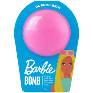 "Da Bomb Bath Bomb Barbie - BARBIE PINK BATH BOMB - A Cotton Candy Bath Fizzer with a Fun Suprise Inside! 7 oz. - 2.75"" Diameter (M64130 - 64131)"