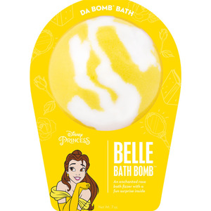 "Da Bomb Bath Bomb Disney Princess - BELLE BATH BOMB - An Enchanted Rose Bath Fizzer with a Fun Suprise Inside! 7 oz. - 2.75"" Diameter (M64142 - 64139)"