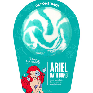 "Da Bomb Bath Bomb Disney Princess - ARIEL BATH BOMB - A Sea Foam Bath Fizzer with a Fun Suprise Inside! 7 oz. - 2.75"" Diameter (M64142 - 64140)"