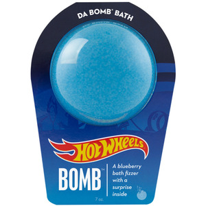 "Da Bomb Bath Bomb Hot Wheels - BLUE BATH BOMB - A Blueberry Bath Fizzer with a Fun Suprise Inside! 7 oz. - 2.75"" Diameter (M64132 - 64133)"
