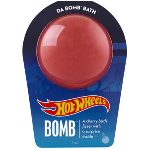 "Da Bomb Bath Bomb Hot Wheels - RED BATH BOMB - A Cherry Bath Fizzer with a Fun Suprise Inside! 7 oz. - 2.75"" Diameter (M64132 - 64132)"
