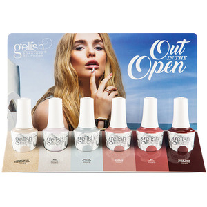 Gelish Out In The Open Collection 6 Piece Chipboard Display (1130036)