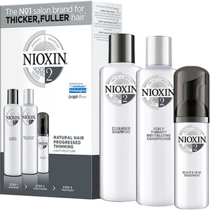 Nioxin Kit - System 2 - for Natural Hair with Progressed Thinning (99240009136)