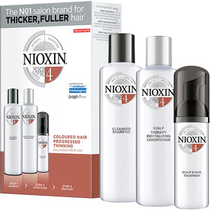 Nioxin Kit - System 4 - for Colored Treated Hair with Progressed Thinning (99240009134)