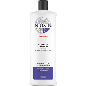 Nioxin Cleanser Shampoo - STEP 1 - System 6 For Bleached or Chemically Treated Hair with Progressed Thinning 33.8 oz. - 1000 mL. (M81629278 - 81640190)
