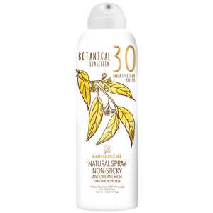 Australian Gold SPF Botanical Continuous Spray Sunscreen - 30 SPF Sunscreen Natural Spray Non-Sticky Antioxidant Rich UVA-UVB Broad Spectrum Protection 6 fl. oz. - 177 mL. (M31470 - 31468)