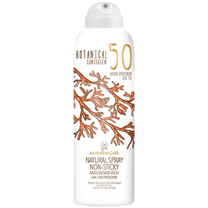 Australian Gold SPF Botanical Continuous Spray Sunscreen - 50 SPF Sunscreen Natural Spray Non-Sticky Antioxidant Rich UVA-UVB Broad Spectrum Protection 6 fl. oz. - 177 mL. (M31470 - 31470)