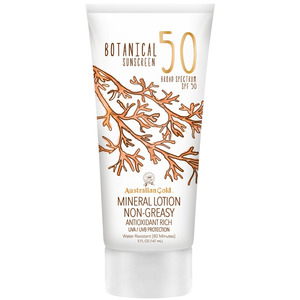 Australian Gold SPF Botanical Sunscreen Mineral Lotion - 50 SPF Mineral Lotion Non-Greasy Antioxidant Rich UVA-UVB Broad Spectrum Protection 5 fl. oz. - 147 mL. (M31471 - 31471)