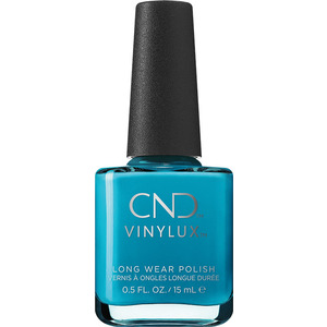 CND Vinylux - Summer City Chic Collection - Pop-Up Pool Party (Electric Blue) 0.5 oz. - 7 Day Air Dry Nail Polish (M5406 - 5407)