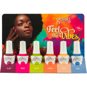 Gelish Soak-Off Gel Polish - Feel The Vibes Collection 6 Piece Chipboard Display (1130039)