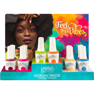 Gelish Soak-Off Gel Polish - Feel The Vibes Collection 12 Piece Chipboard Display (1130040)