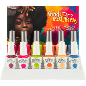 Morgan Taylor Nail Lacquer & Gelish Soak-Off Gel Polish - Feel The Vibes Collection 12 Piece Display (1130041)