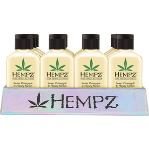 Hempz Mini Sweet Pineapple & Honey Melon Basket Display (24) Mini Sweet Pineapple & Honey Melon Moisturizers (2.25 oz.) + (1) Merchandising Basket (55144)