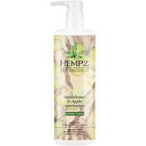 Hempz Sandalwood & Apple Body Scrub 25.4 fl. oz. - 750 mL. (M41866 - 41867)