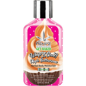 Hempz Whip it Good! Holiday Maple Buttercream Herbal Body Moisturizer 2.25 fl. oz. - 66 mL. (M55115 - 55116)