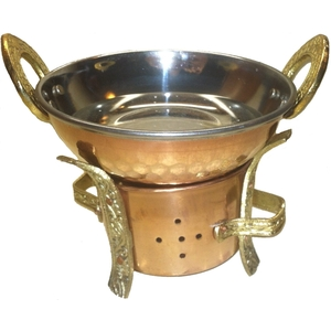 Traditional Oil Massage Warmer with Stainless Steel Lining (65)