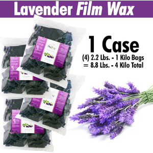 Harley Waxing UK - Lavender Film Wax 1 Case = (4) 2.2 Lbs. - 1 Kilo Bags = 8.8 Lbs. - 4 Kilo Total (Lav-Film X 4)