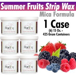 Harley Waxing UK - Summer Fruits Strip Wax Mica Formula 1 Case = (6) 15 Oz. - 425 Gram Containers (SumF-Soft X 6)