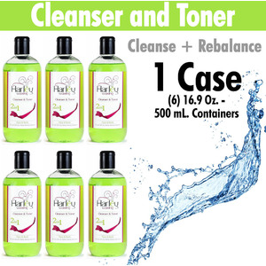 Harley Waxing UK - Cleanser and Toner Cleanse and Rebalance Use with All Harley Waxes 1 Case = (6) 16.9 Oz. - 500 mL. Containers (C+T X 6)