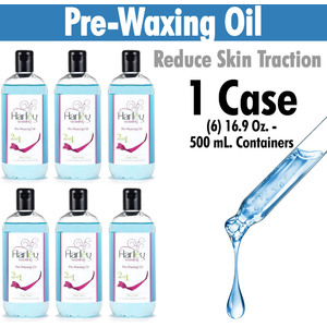 Harley Waxing UK - Pre-Waxing Oil Reduce Skin Traction Use with Harley HotHard and Film Waxes 1 Case = (6) 16.9 Oz. - 500 mL. Containers (PW-Oil X 6)