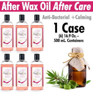 Harley Waxing UK - After Care Oil Anti-Bacterial and Calming Use with All Harley Waxes 1 Case = (6) 16.9 Oz. - 500 mL. Containers (AC-Oil X 6)