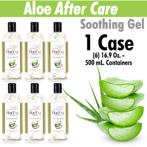 Harley Waxing UK - Aloe After Care Soothing Gel Soothe and Condition Use with All Harley Waxes 1 Case = (6) 16.9 Oz. - 500 mL. Containers (Aloe-Gel X 6)