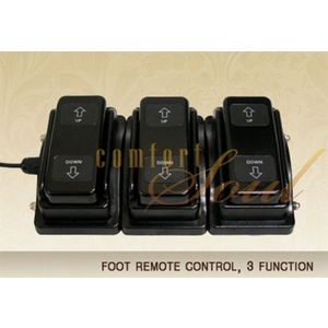 Foot Remote Control 3 Function by ComfortSoul (FR300B)