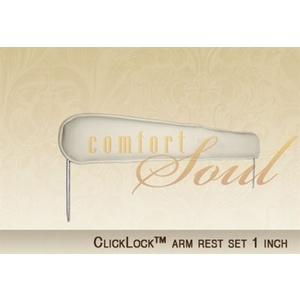 ClickLock Arm Rest Set - 1 Inch by ComfortSoul (AR100I)