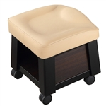 Alpina Pedicure Technician Stool by ComfortSoul (CS-2043A)