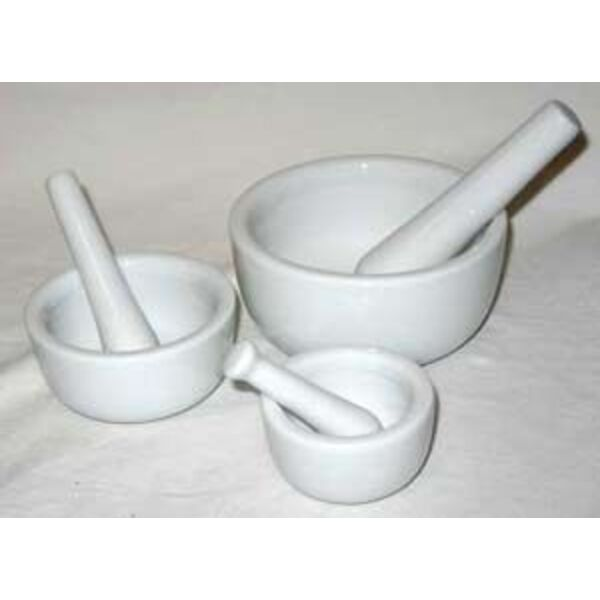 "Mortar and Pestle - White Porcelain Set of 3 2"" 3"" and 4"" Diameter (LMOR3)"