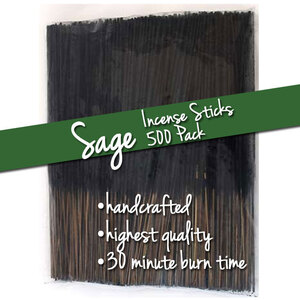 Sage Incense Sticks 500 Pack (ISSAGX)