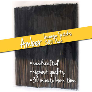 Amber Incense Sticks 500 Pack (ISAMBX)