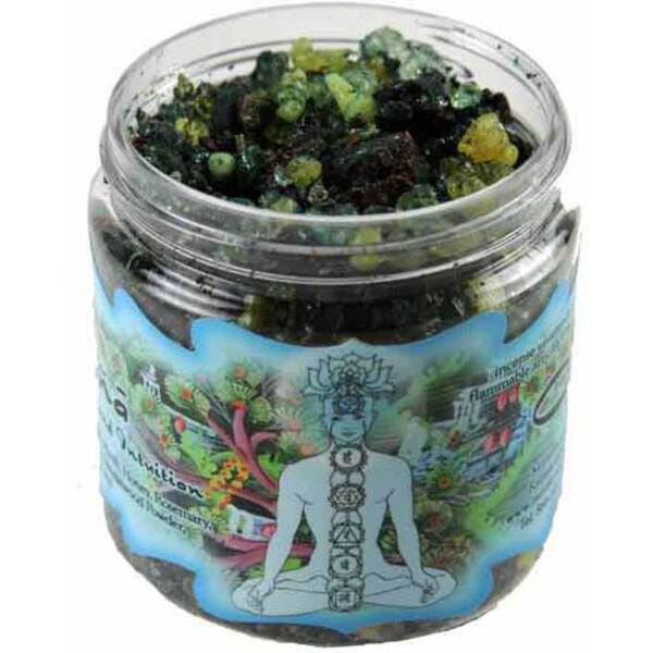 Resin Incense: Ajna Chakra - Concentration and Intuition 2.4 oz. Jar (IRJAJN)